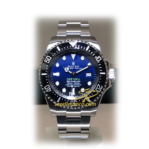 Rolex deepsea deep blue 44mm 126660 nuovo sorelle ronco for Sorelle ronco rolex