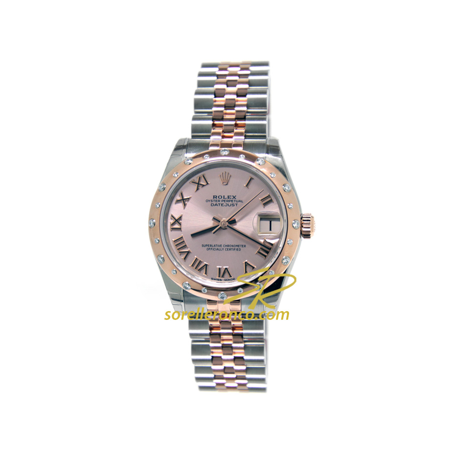 Orologio Rolex Datejust Rosa Jubilee Acciaio Everose 31mm