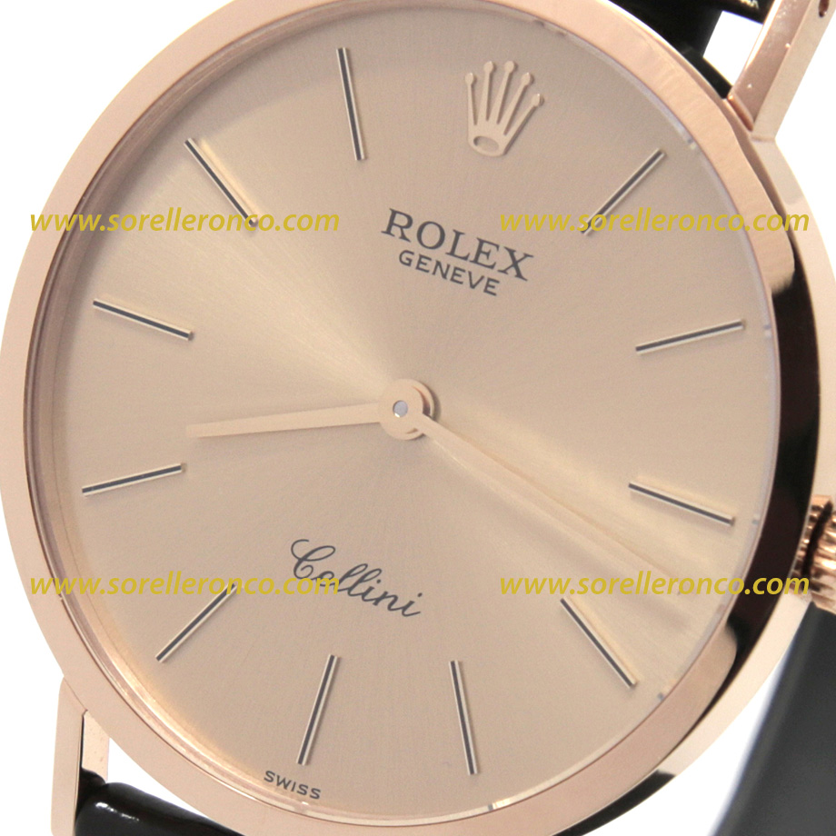 Rolex cellini oro giallo quadrante champagne 4112 8 32mm for Sorelle ronco rolex
