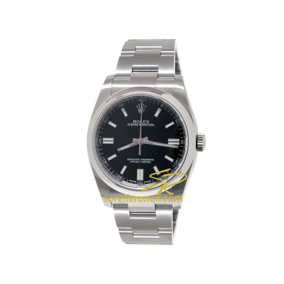 Oyster Perpetual Nero Indici Bianchi 36mm