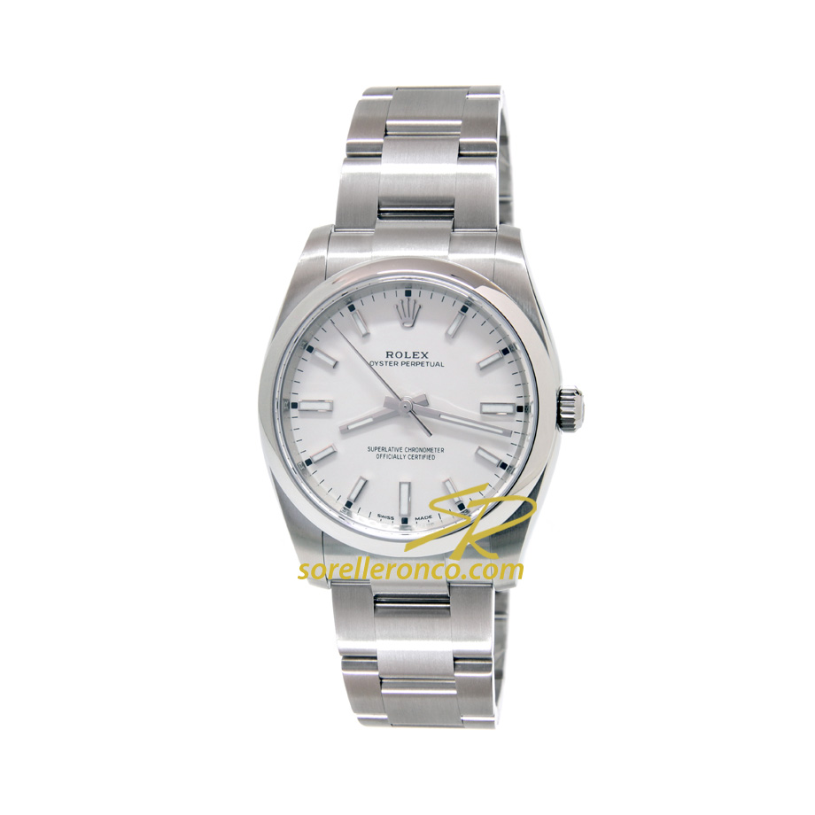 Oyster Perpetual Bianco Indici Bianchi 34mm