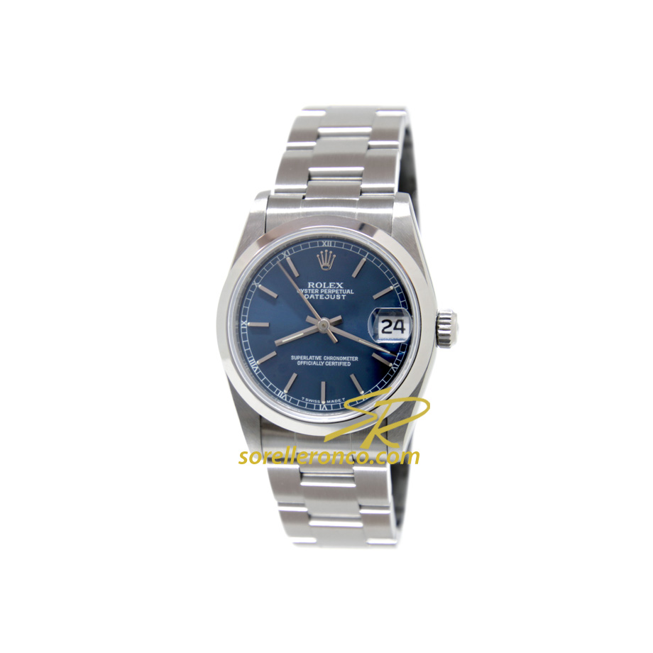 Datejust 31mm Blu Indici Oyster