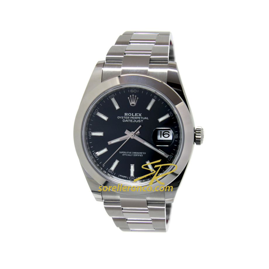 Datejust Nero Indici 41mm Oyster
