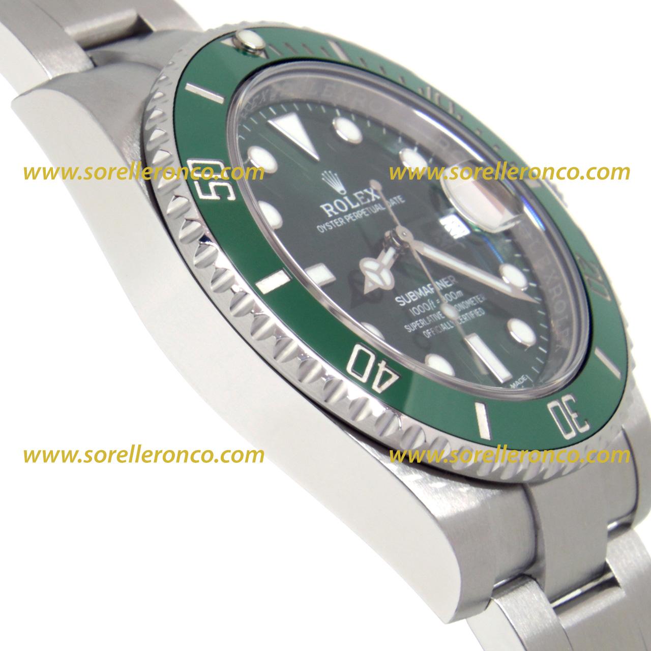 negozio online f3938 20009 ROLEX SUBMARINER GHIERA VERDE CERAMICA QUADRANTE VERDE 40mm ...