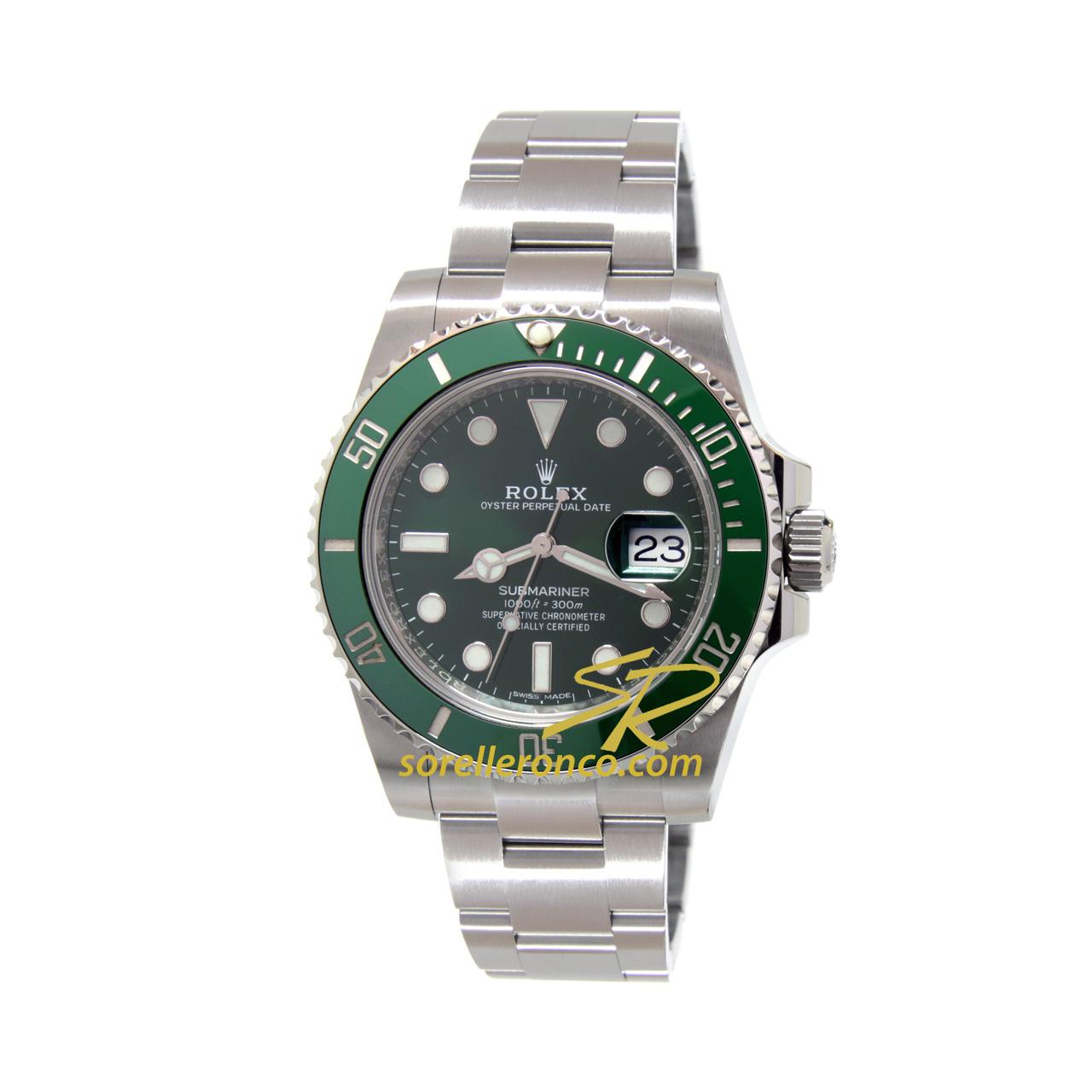 Submariner Date Ghiera Ceramica Verde 40mm