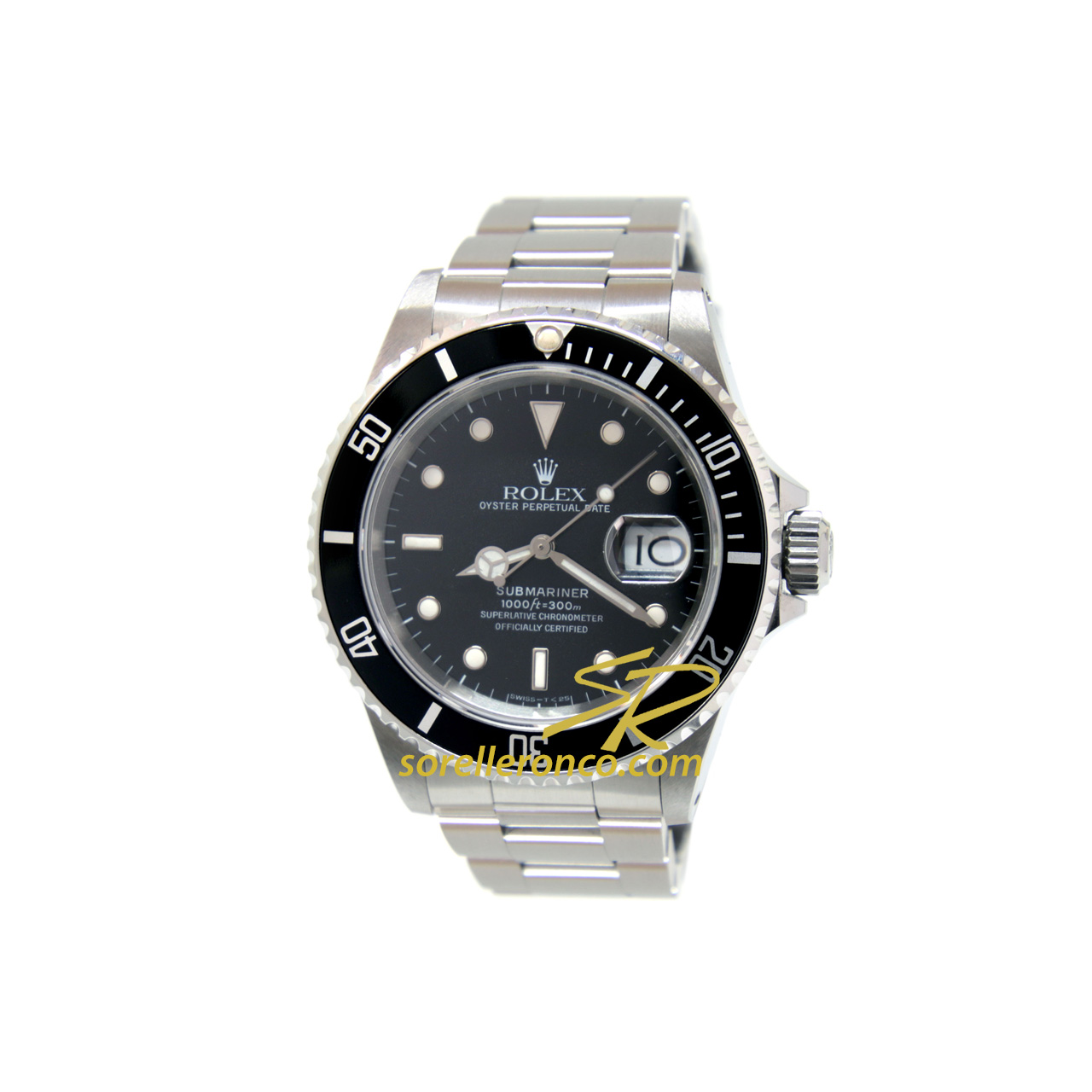 Rolex submariner date acciaio 40mm ghiera alluminio 16610 for Sorelle ronco rolex