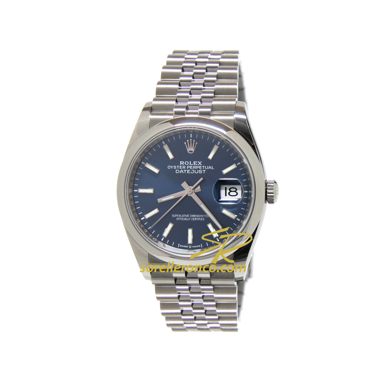 DateJust 36mm Blu Bracciale Jubilee