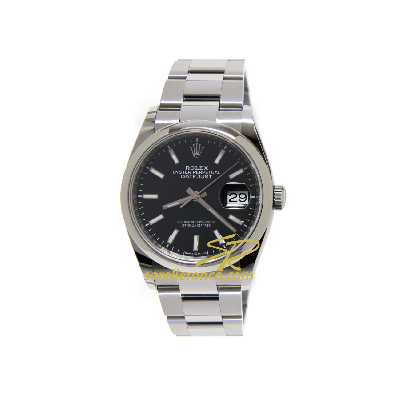 Datejust 36mm Oyster Nero Indici Nuovo Movimento