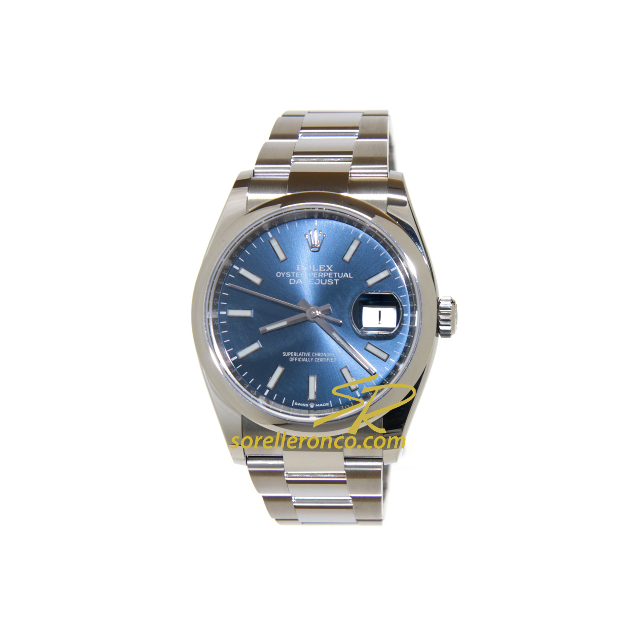 Datejust 36mm Oyster Blu Indici