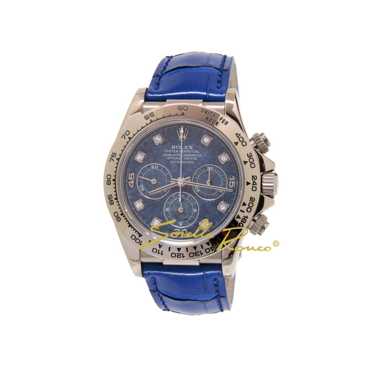 Daytona Zenith Oro Bianco Sodalite Blu Diamanti