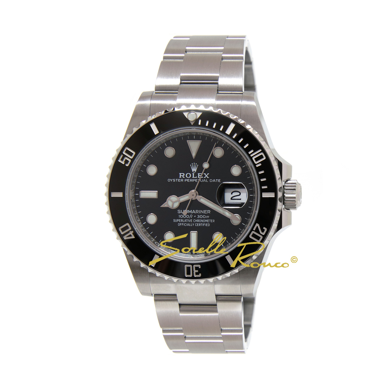 Submariner Date Ghiera Ceramica Nera 41mm - Nuovo Movimento -