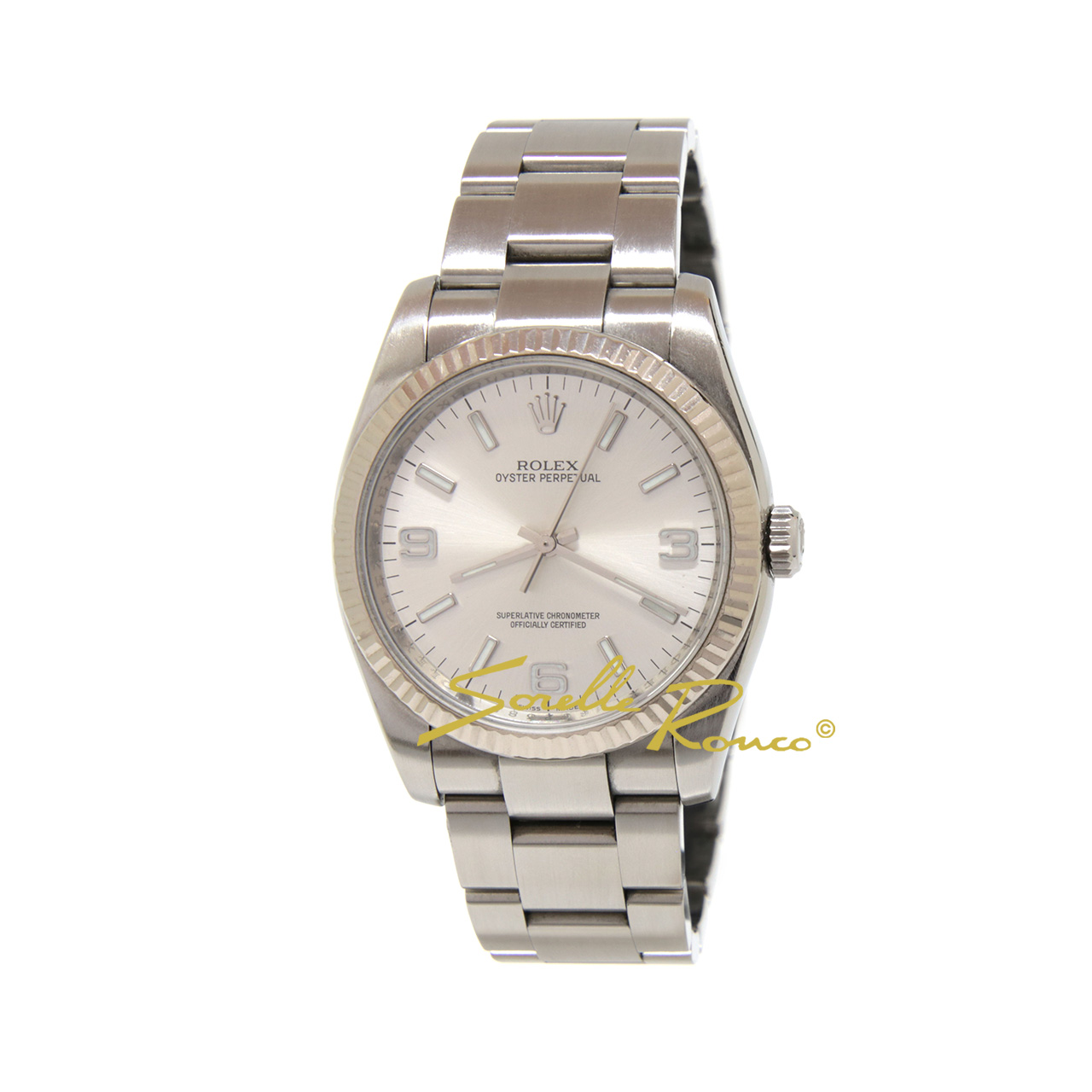Oyster Perpetual Silver 36mm - Ghiera ORO BIANCO