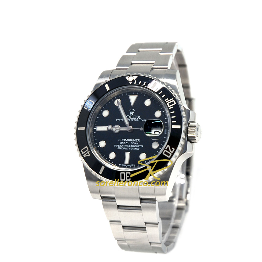 Submariner Ghiera Ceramica Nera 40mm