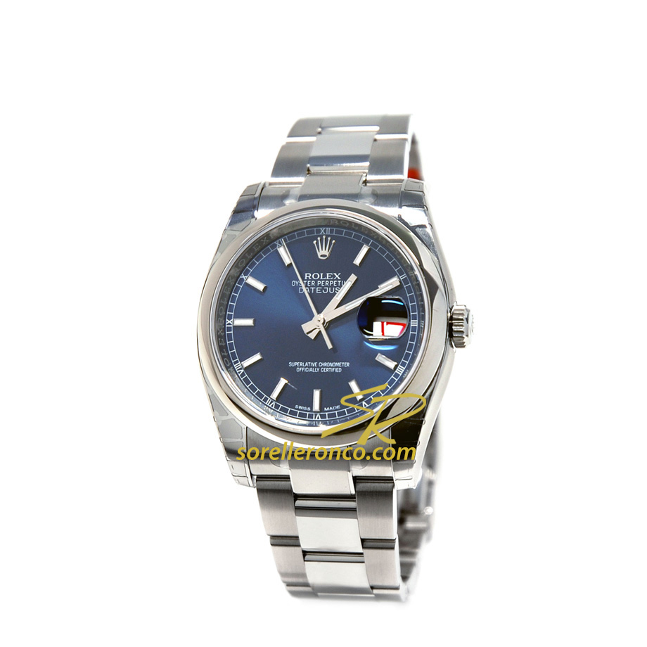 Rolex datejust 36mm blue dial 116200 offerta sorelle ronco for Sorelle ronco rolex