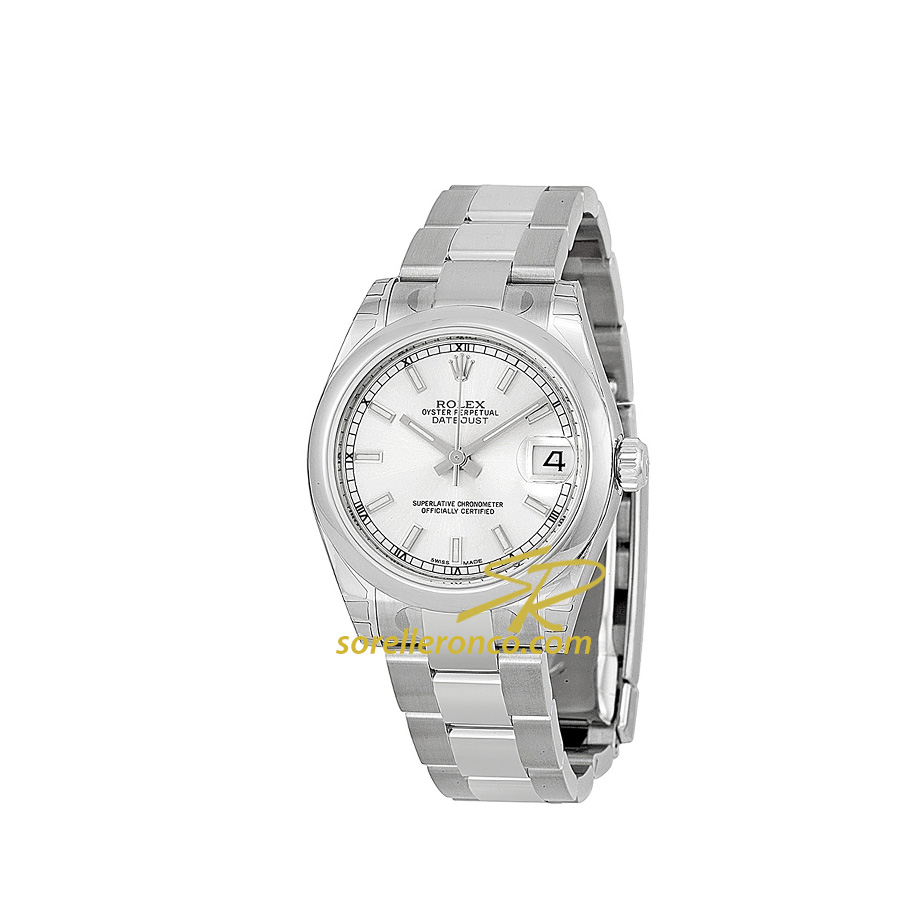 Datejust Silver Indici 31mm Bracciale Oyster