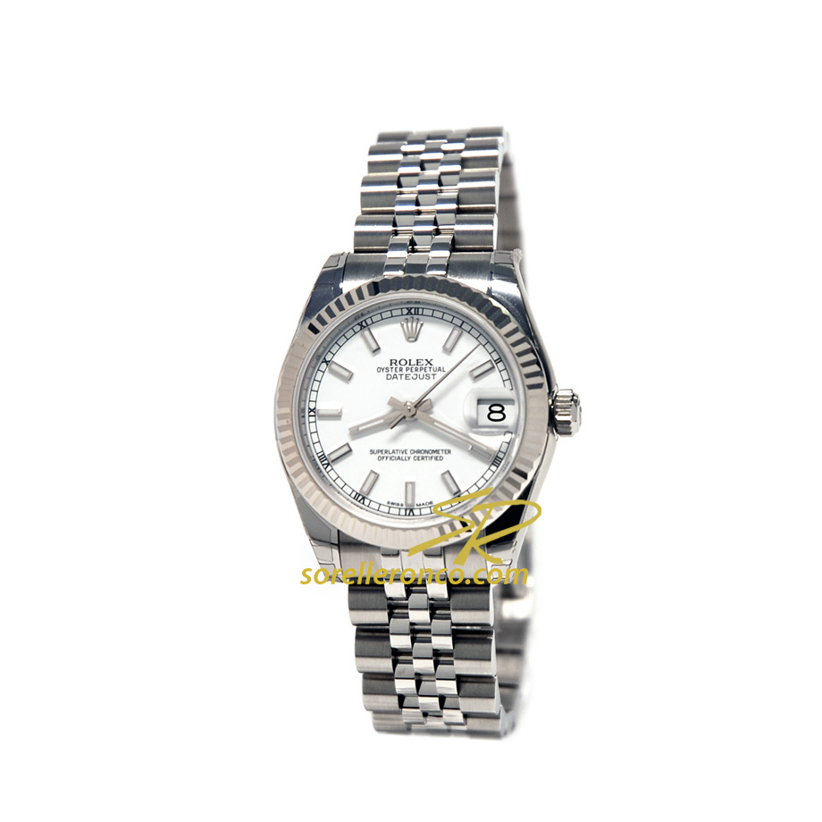 Datejust Donna Bianco Indici Jubilee 31mm