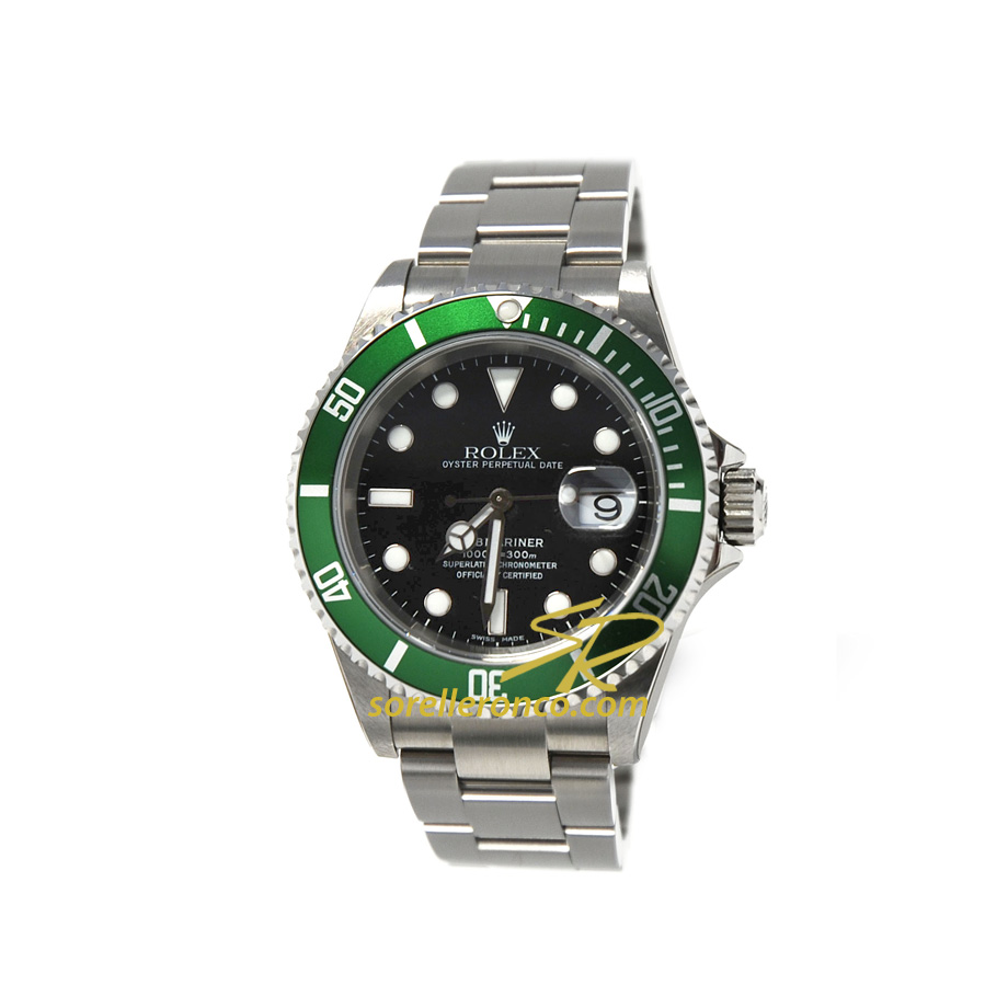 Submariner Ghiera Alluminio Verde 40mm
