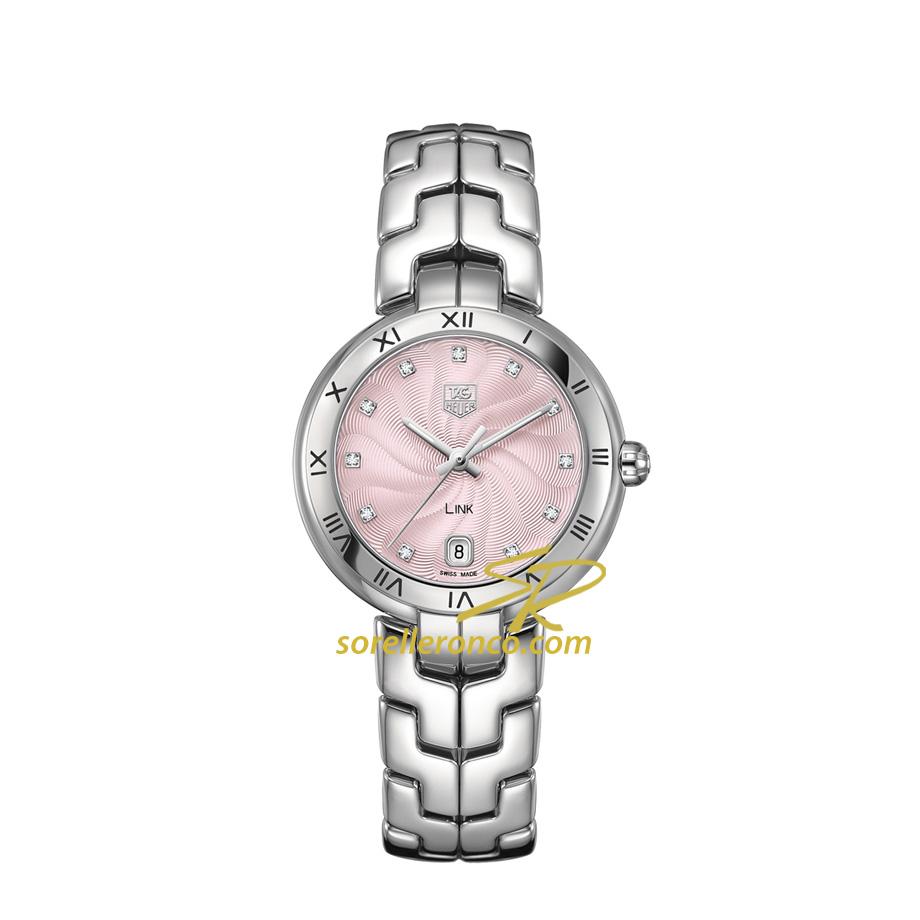 Orologio TAG HEUER Link Lady Acciaio Quadrante Rosa Diamanti