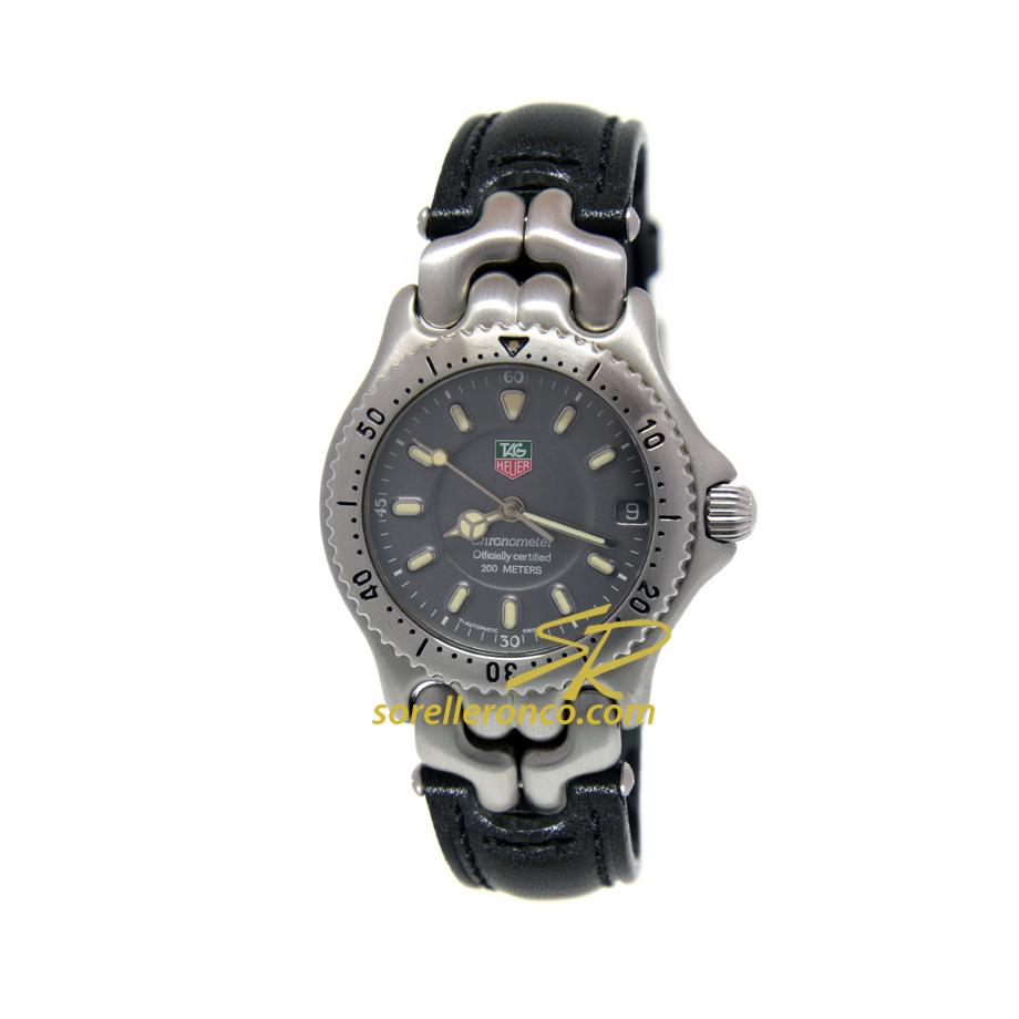 Chronometer Grigio Pelle Nera 34mm