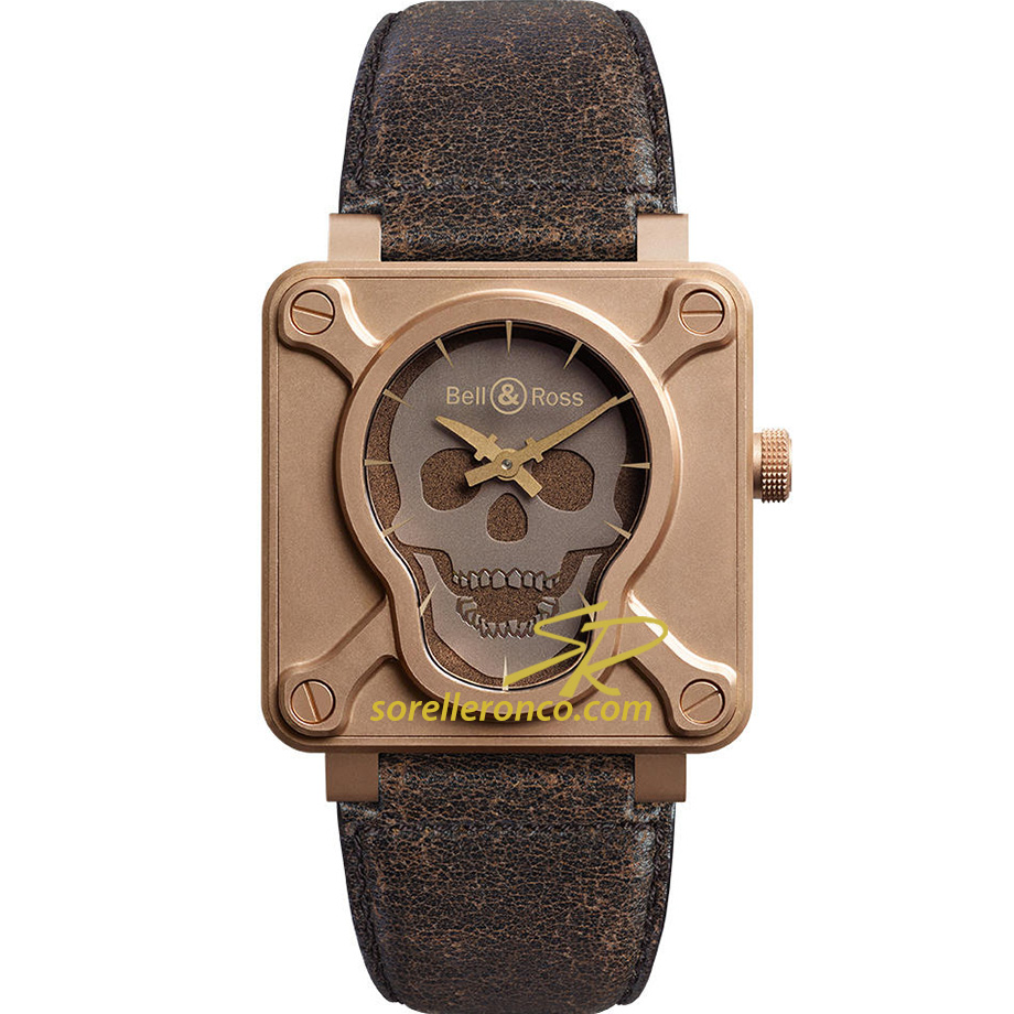 Aviation Bronze Skull 46 mm