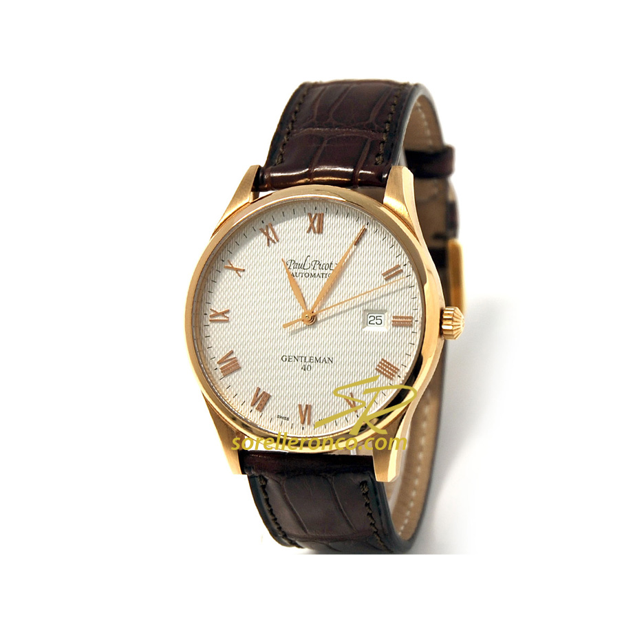 Gentleman Automatico Oro Rosa 18kt 40mm