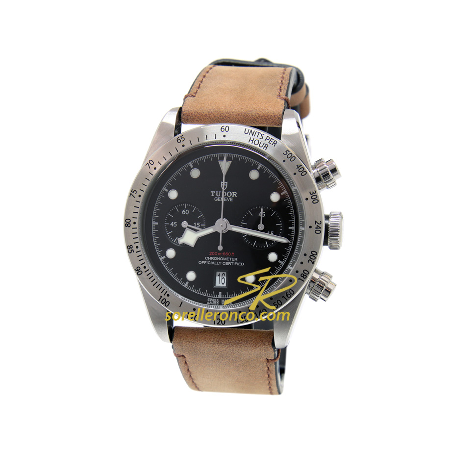 Heritage Black Bay Chrono Pelle 41mm