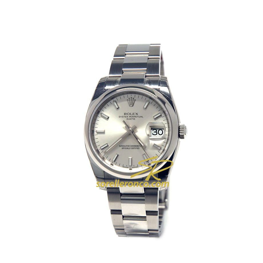 Date Silver 34mm