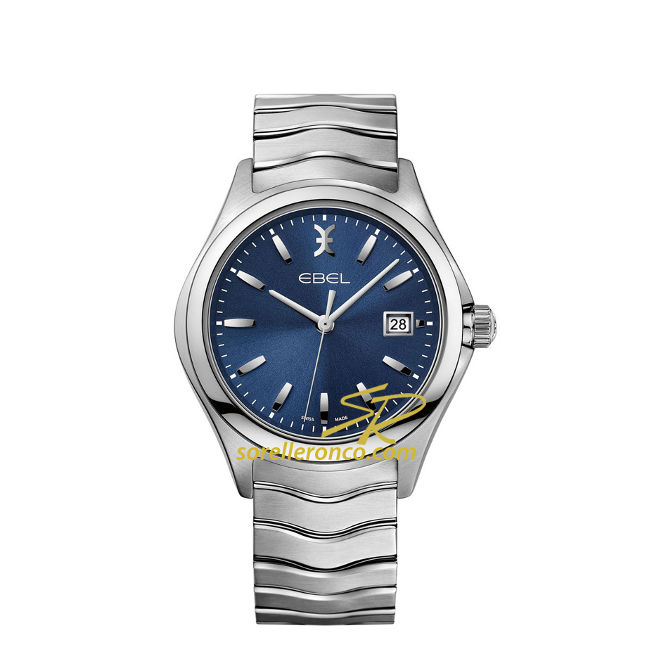 Ebel Wave Quarzo Quadrante Blu