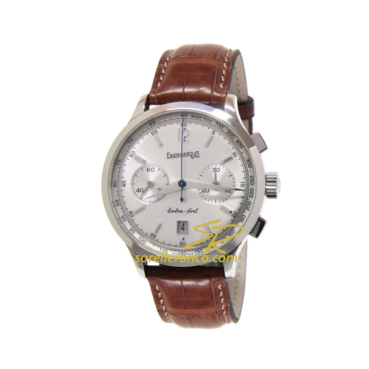 Extra-Fort Chrono Bicompax Grande Taille Silver