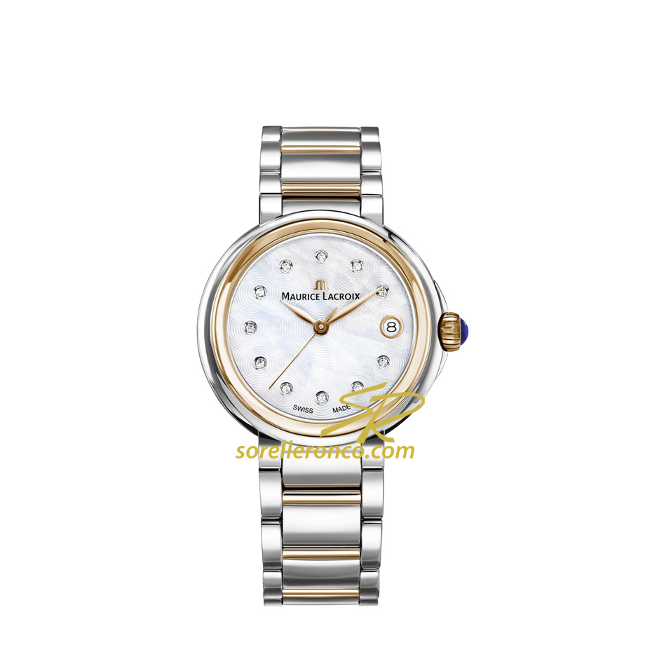Orologio MAURICE LACROIX Fiaba Madreperla con Diamanti Acciaio e Oro 36mm
