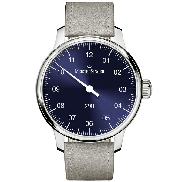 N.1 Carica Manuale Blu 43mm