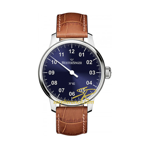 N.02 Manuale Quadrante Blu 43mm