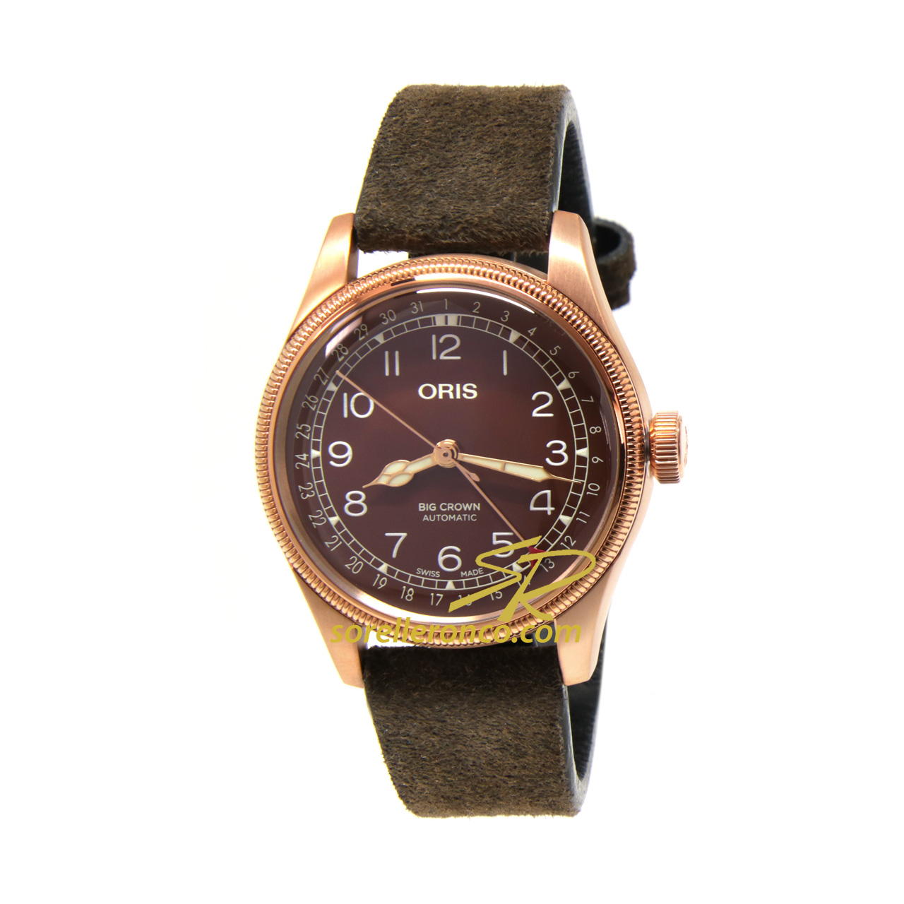 Big Crown Bronze Pointer Date 40mm