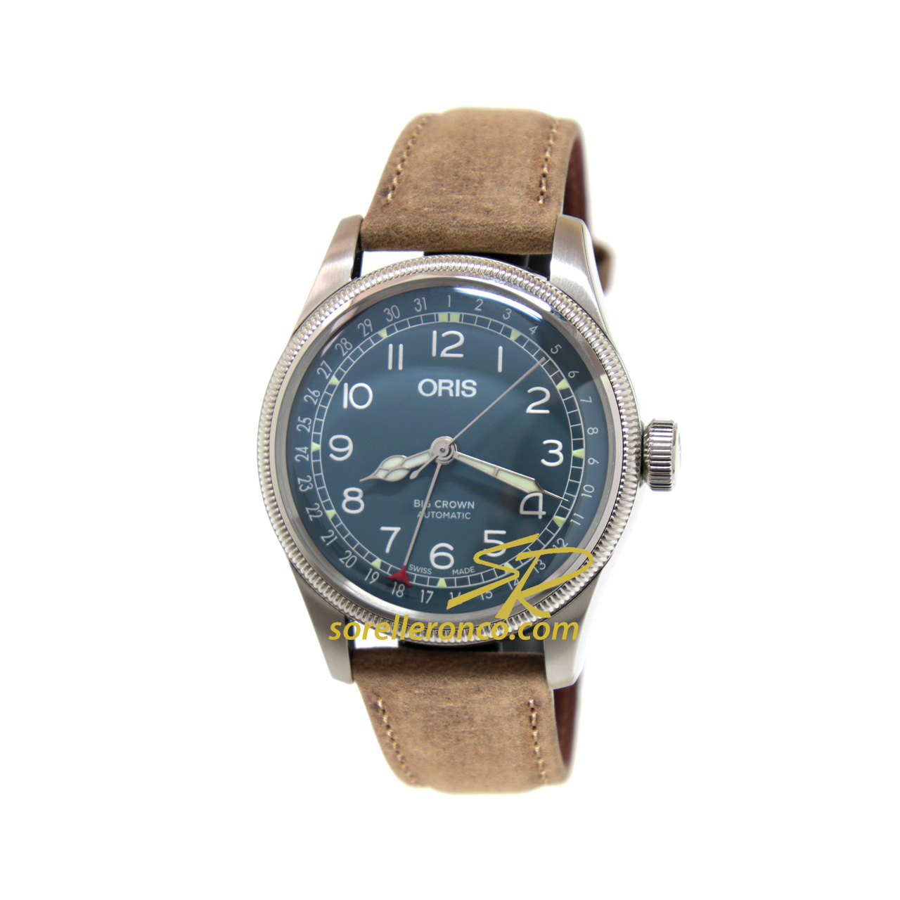 Big Crown Pointer Date Blu 40mm