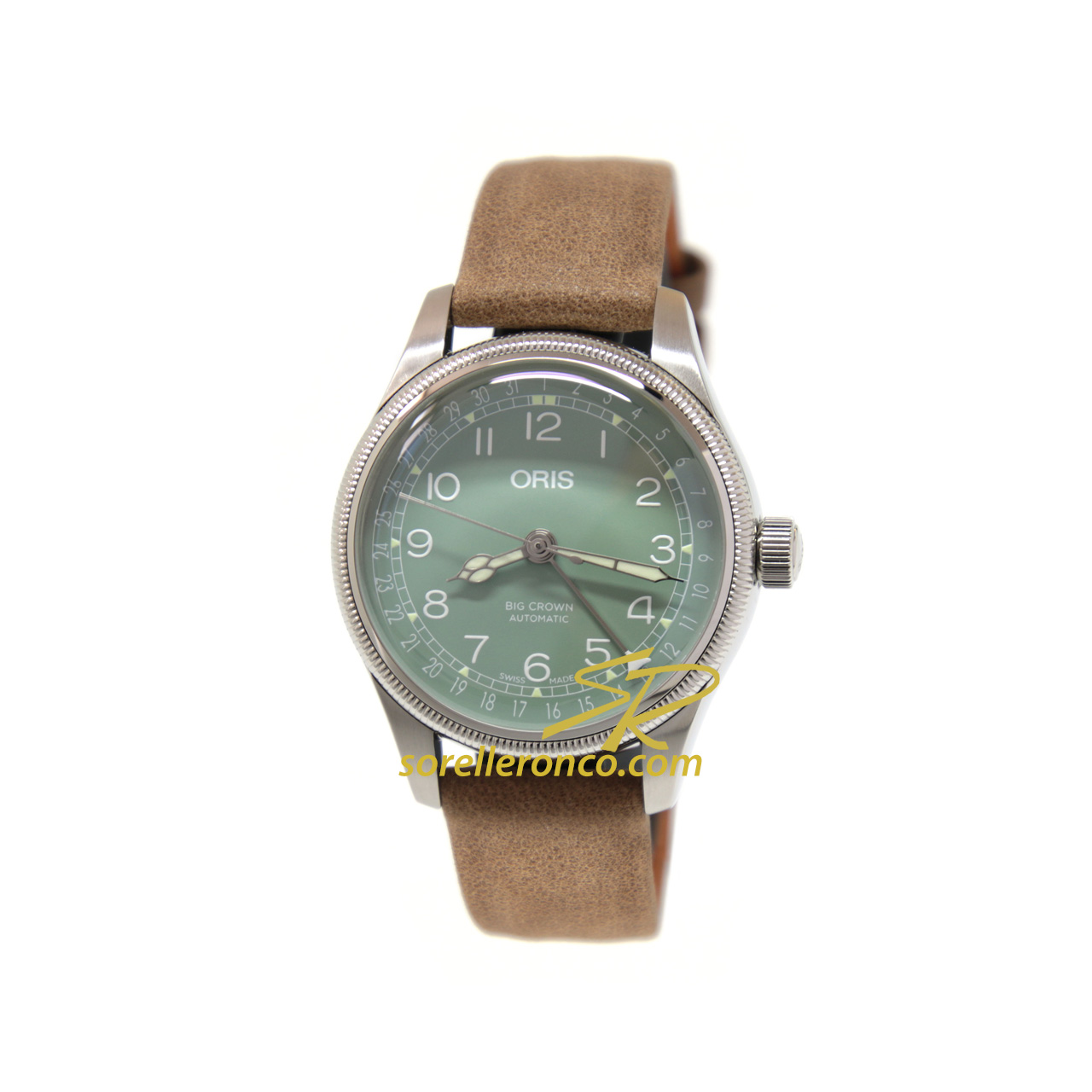Big Crown Pointer Date Verde 36mm