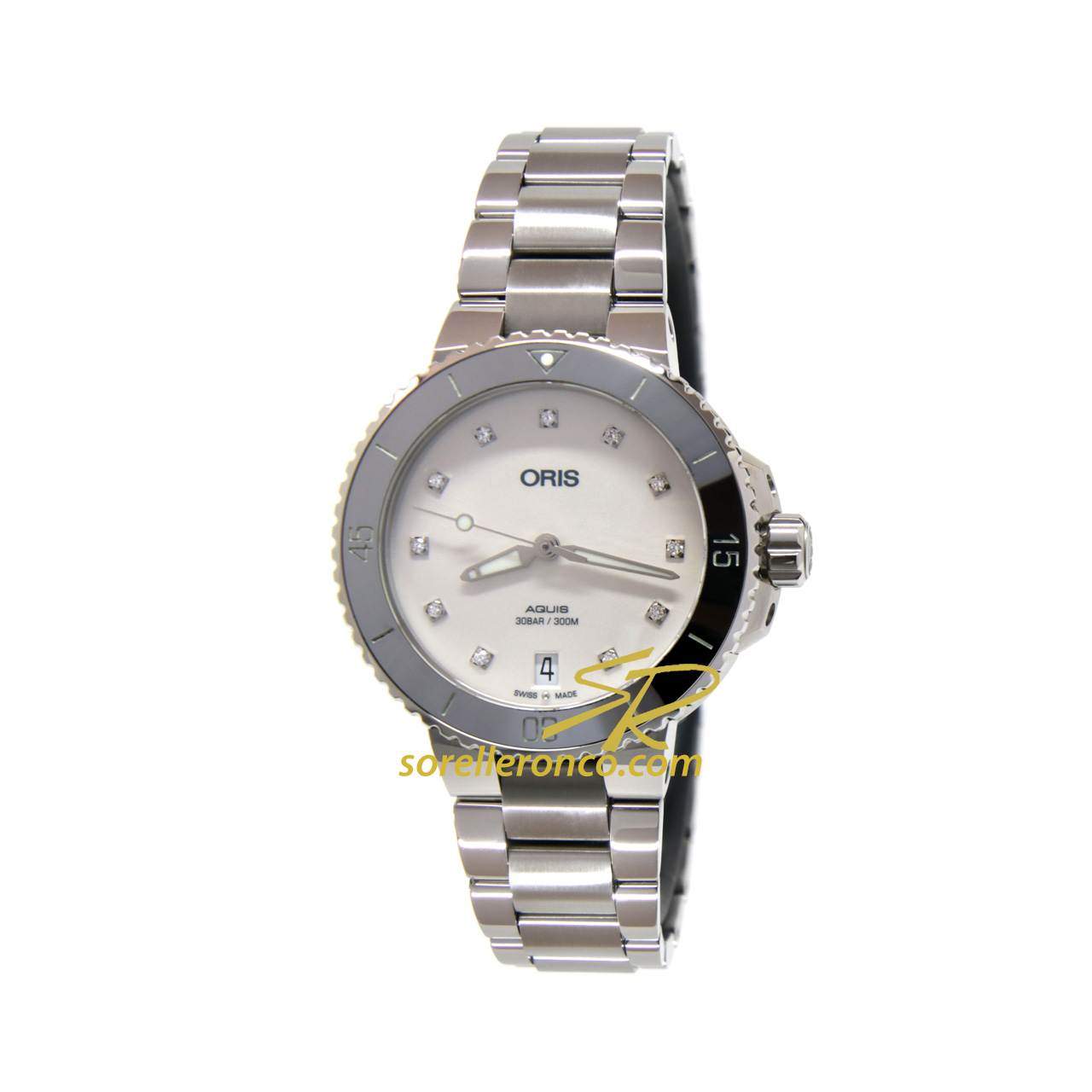 Aquis Date Diamonds Lady 36.5mm