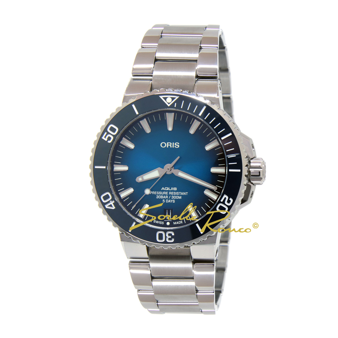 Aquis Date Calibre 400 Automatico Blu