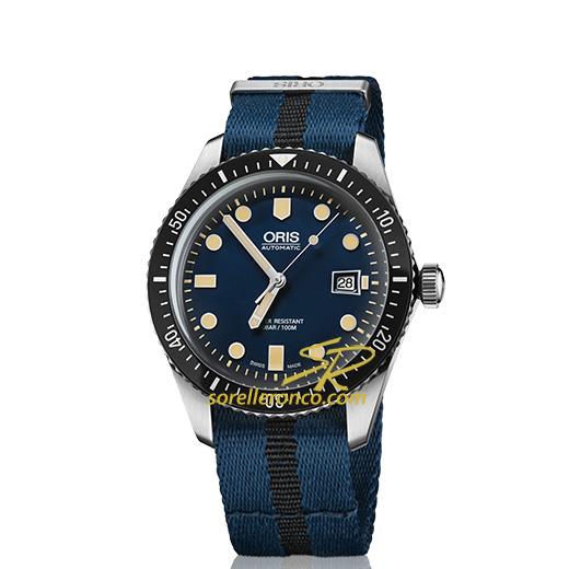 Divers Sixty-Five Vintage Quadrante Blu Cinturino Nato