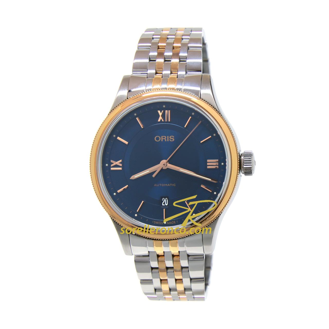 Classic Date Automatico Blu Bicolore