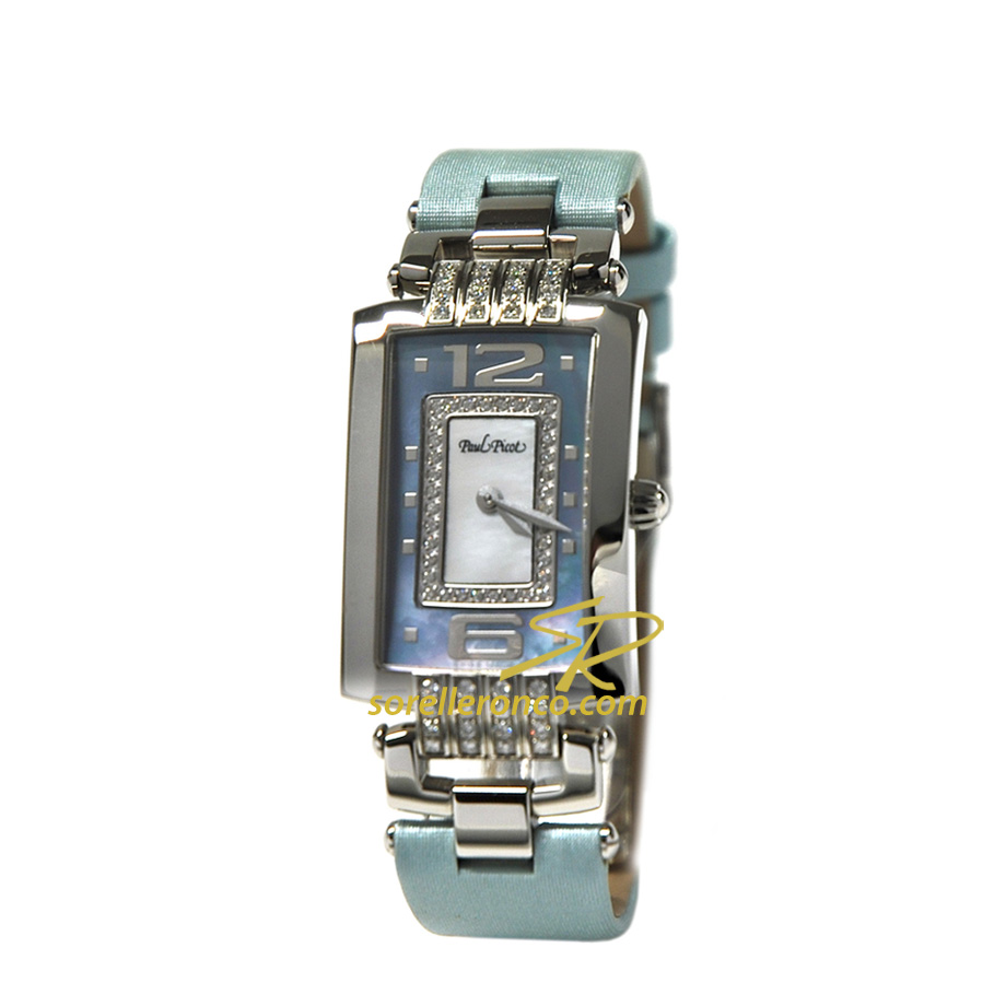 Orologio PAUL PICOT Lady Chic Madreperla Azzurro con Diamanti