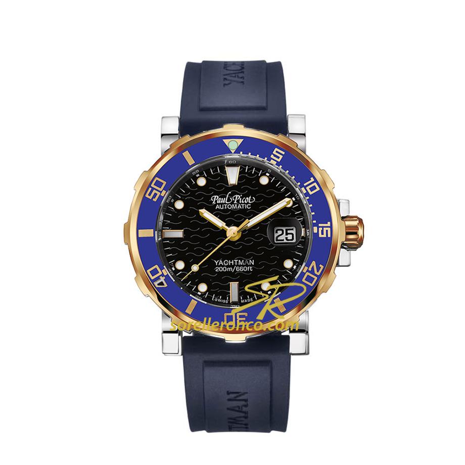 Yachtman 3 Classic Acciaio e Oro Blu 43mm