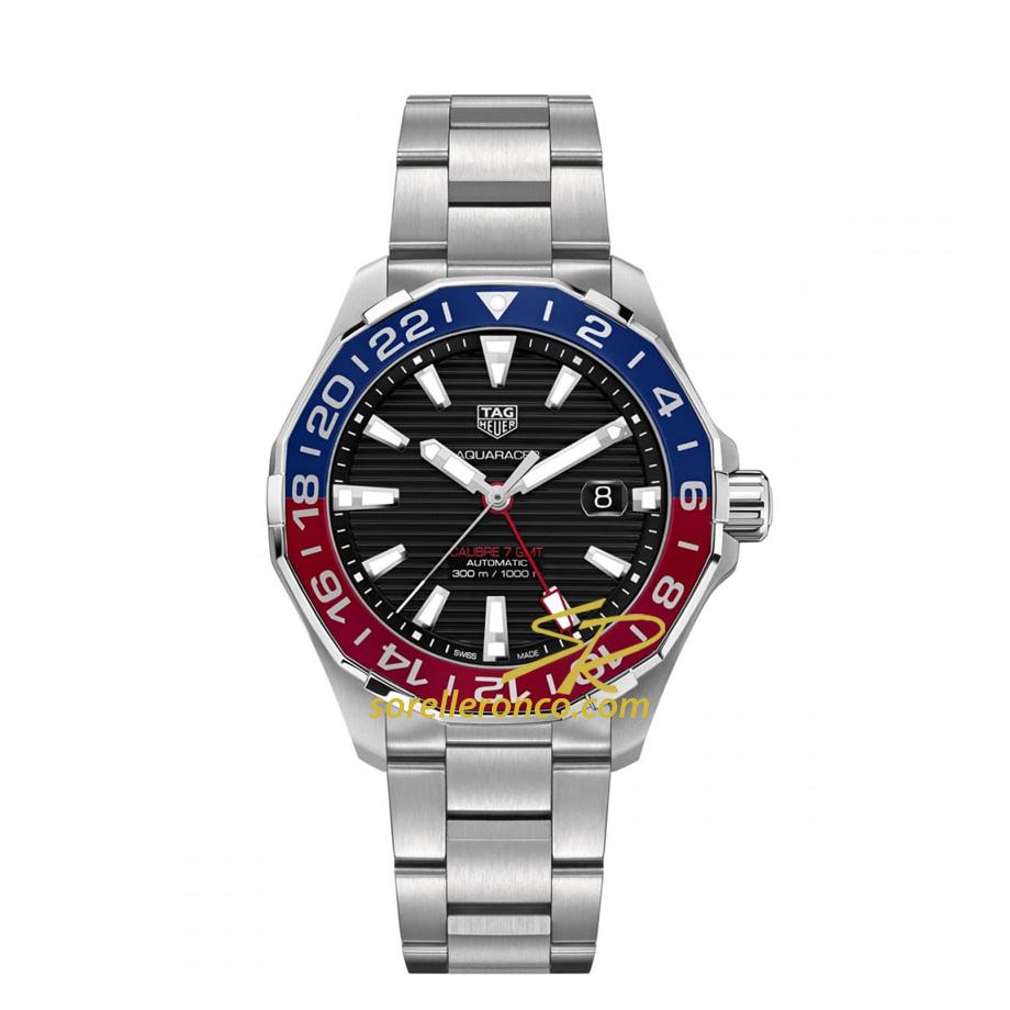 Aquaracer GMT PEPSI Automatico Cal. 7 Ghiera Rosso/Blu