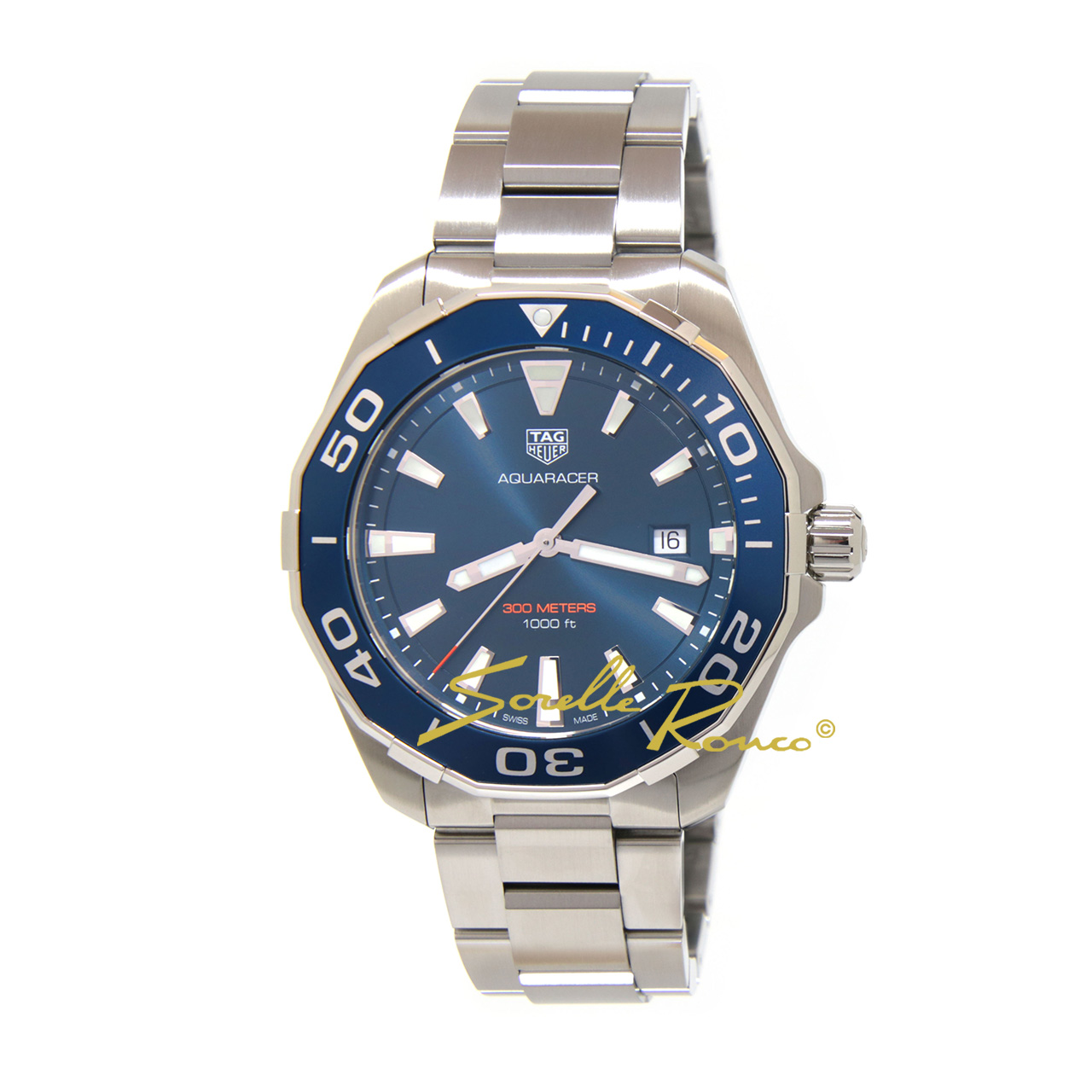 Aquaracer 300 Quarzo Ghiera Blu 43mm
