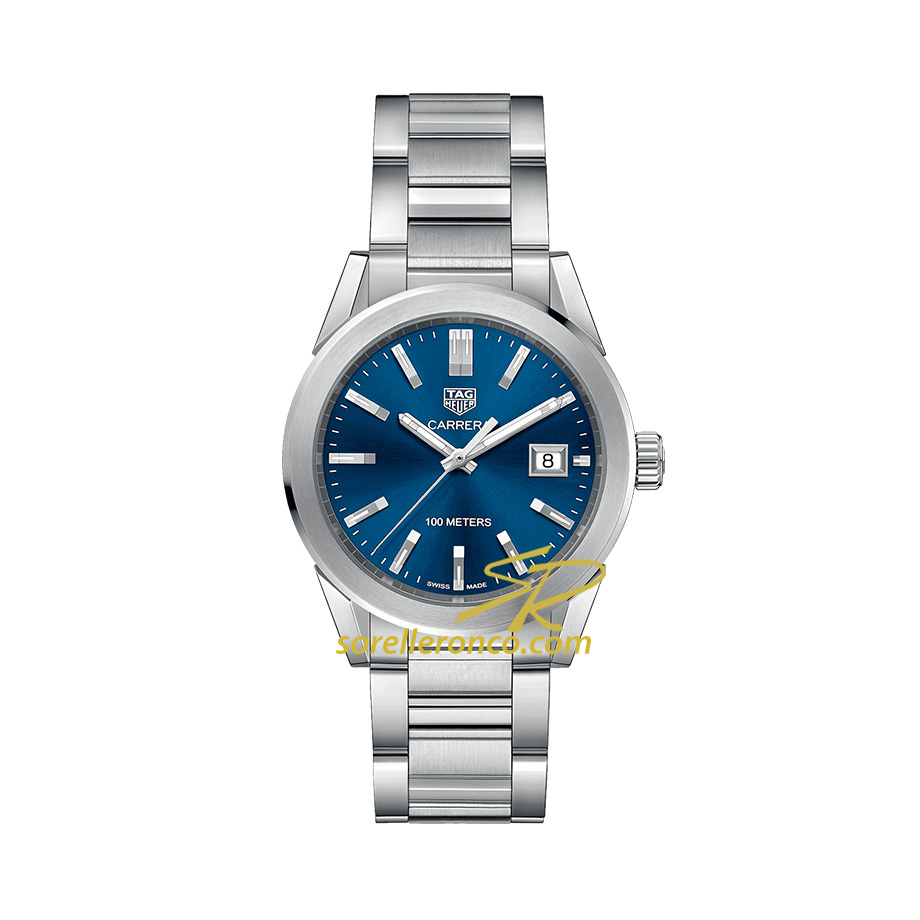 Orologio TAG HEUER Carrera 36mm Quarzo Acciaio Quadrante Blu