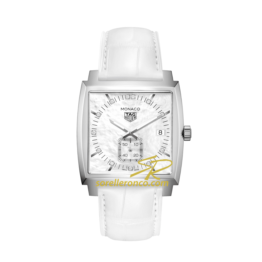 Monaco Lady Madreperla Diamanti 37mm