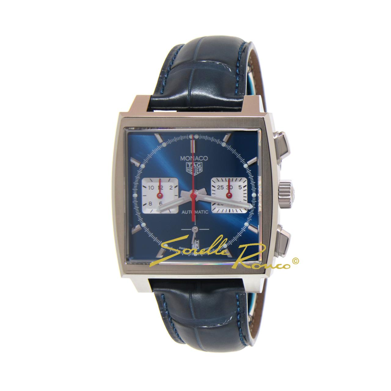 Monaco Chronograph Blu Calibre Heuer 02