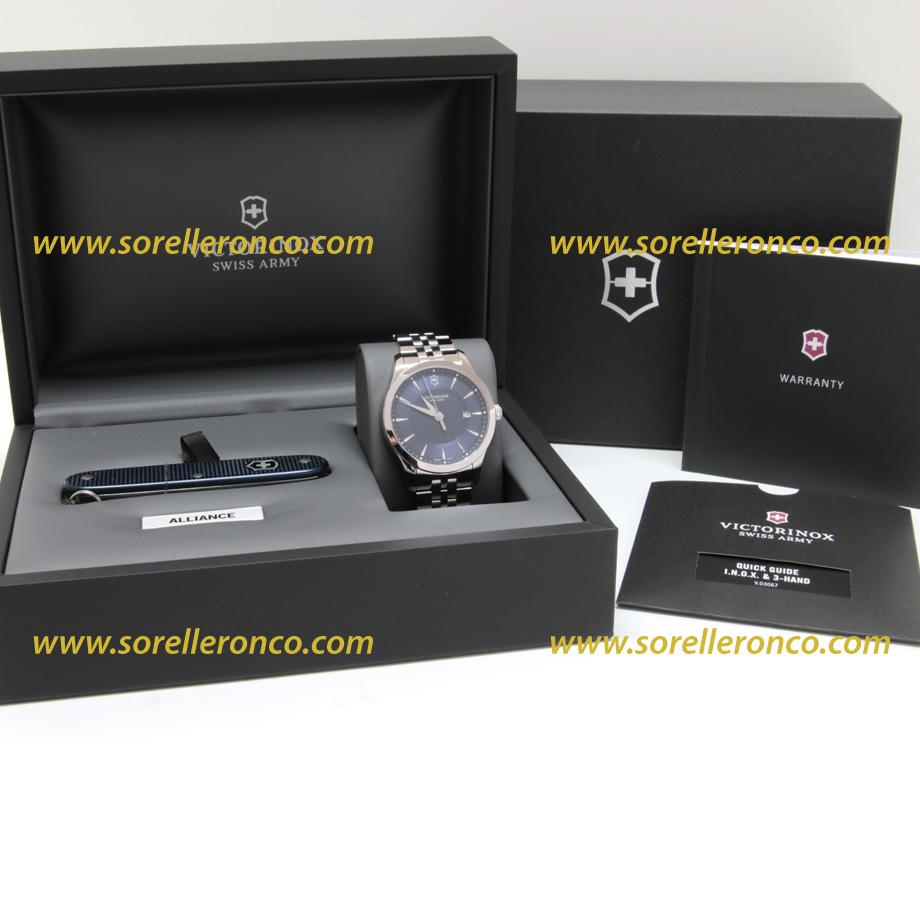 Victorinox Alliance Quarzo Acciaio Blu 40mm 241802 1 Nuovo
