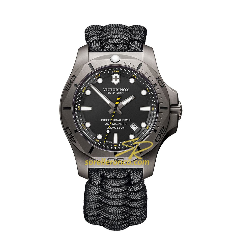 INOX Professional Diver Paracord Nero 45mm