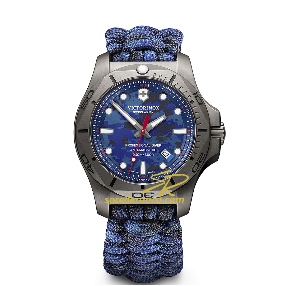 I.N.O.X. Professional Diver Paracord Blu 45mm