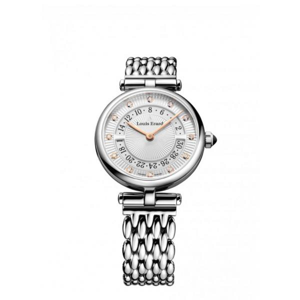 01811AA11-BMA81 - Louis Erard Romance Silver 33mm Acciaio Diamanti